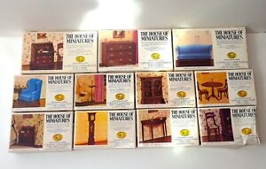 11 House of Miniatures Lot - CHIPPENDALE Queen Anne - Vintage Doll House X-Acto