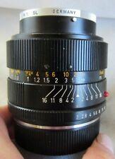 【EXC+++++】LEICA LEITZ SUMMICRON R 35mm F2 - Serial 2693299 Fast Lens