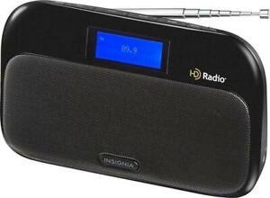 Insignia Tabletop HD Radio LCD display NS-HDRAD2 BLACK