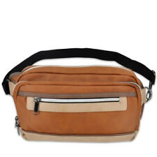 Everyday Deal Jace Unisex Leather Waist Security Money Belt Bag (Brown)