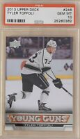 2013 2014 UPPER DECK Tyler Toffoli PSA 10 YOUNG GUNS RC ROOKIE GEM MINT Canucks
