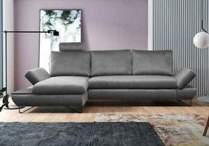 Ecksofa Henisa Eckcouch  Bettkasten Schlaffunktion Loft Modern Wohnzimmer M24
