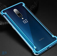 For Oneplus 7/7 Pro Aluminum Metal Frame Bumper Hard Cell Phone Case Cover