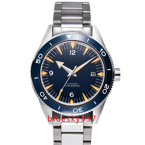 41mm Steril Seamaster Blue Dial Saphirglas Ceramic Date Bracelet Uhr Mens Watch