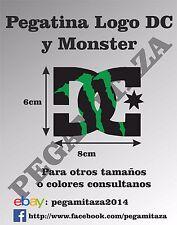 Pegatina DC y Monster Sticker vinilo adhesivo coche, moto, casco, patineta ...