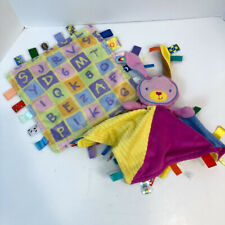 Taggies Bunny Lovey Security Blanket Plush Set Bright Start Set of Two