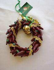 Chili Pepper Wreath Christmas Ornament - Southwest theme - Kurt Adler