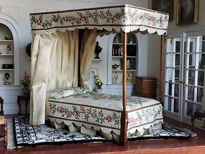 Dollhouse Miniature Artisan Robert Bernhard Dolphin Originals Poster Bed Signed