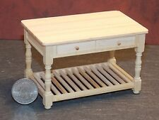 Dollhouse Miniature Work Table Kitchen Prep 1:12 inch scale D50 Dollys Gallery