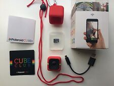 Cámara de acción Polaroid CUBE + 1440p Mini con Wi-Fi Rojo + Tarjeta Micro SD 8gb