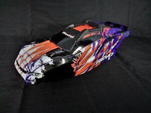 NEW Traxxas 1/10 E-Revo VXL 2.0 Purple Orange Body Shell with Cage / Mount