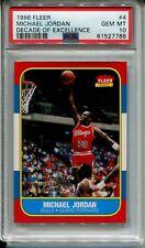 Michael Jordan Rookie Card Replicate PSA 10 1986 Fleer Basketball  1996 Decade