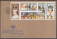 2003 Isle of Man Crowning Glory Jewels of the Coronation FDC; SHS