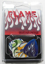 """""""FLAME"""" Guitar Pick Pack, 6 Picks .71mm Clamshell, pics plectrums, Fire Flames"""