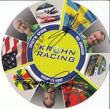 Barbosa, Krohn, jonsson main signé Krohn Racing PROMO CARTE 2015 le mans.
