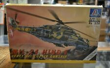 Lot 9-55 * Italeri 1:72 Scale kit No 024, MIL-24 HIND F Helicopter Gun Ship