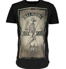 RELIGION Men's T-Shirt Live Fast 13  Size M