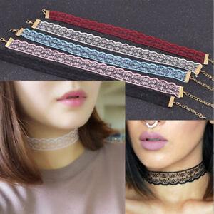 New Punk Gothic Lace Retro Choker Collar Necklace Pendant Chocker Chain Jewelry
