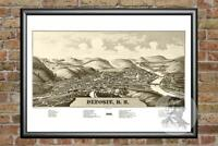 Old Map of Deposit, NY from 1887 - Vintage New York Art, Historic Decor