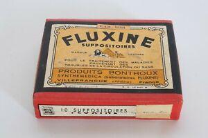 VINTAGE MEDICAL box FLUXINE France early 1900s rare medical macabre