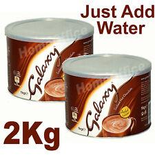 2Kg (2 x 1Kg) Galaxy Instant Hot Chocolate Large Tub Of Drinking Choc New Galaxy