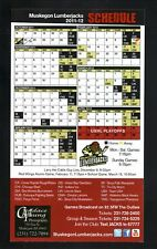 Muskegon Lumberjacks--2011-12 Magnet Schedule--USHL