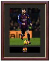 Leo Messi Mounted Framed & Glazed Memorabilia Gift Football Soccer