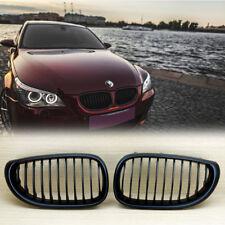 BMW E60/ E61 M5 5-Series 4DR Matte Black Front Grille Grills 535i 528i 550i