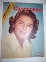 Lot N°129 de 10 magazines revues CINEMONDE années 1955 1956