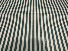 "Vintage Green, White Strip Fabric Lightwieght Oilcloth 5 yrds  36"" Wide"