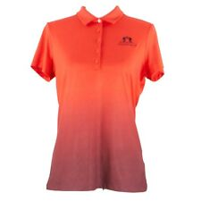 NIKE GOLF Women's Athletic Apparel Orange/Red T-Shirt Gradient Sport Size M