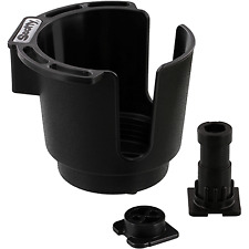 SCOTTY INC. Cup Holder w/Two Mounts, Black