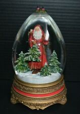 "Hallmark Father Christmas 9"" Musical Egg Snow Globe Santa Claus"