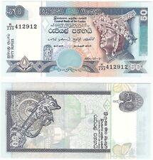 Sri Lanka 50 Rupees 2004 P-117b UNC Uncirculated Banknote
