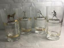Set Of 4 1965 Champions Glasses Kentucky Derby, Masters Golf Tournament, NBA,