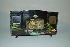 Vintage Japanese Hand Painted Musical Musicbox Jewelry Box Lacquered Lot of 3