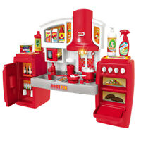 Kitchen Kids Play Set Cookware Pretend Play Toy Cooking Games Light Sound Effect
