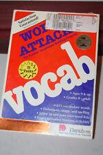 Word Attack Vtg Apple Software Davidson Mac Macintosh 512 Plus Se Sealed Box