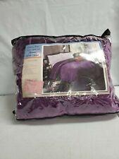 Mk Home Collection Queen/King Blanket Bedspread Bed Cover Dark Purple Z334