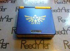 Blue & Gold Zelda GameBoy Advance SP *MINT* AGS-001 Custom Nintendo System gba
