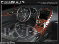 WOOD GRAIN DASH KIT FOR LINCOLN MKX 2016 ( FITS MKX WITH OEM BROWN WALNUT DASH)