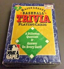 Bicycle Sports Collection Deck Baseball Trivia Playing Cards Vintage 1996 Sealed