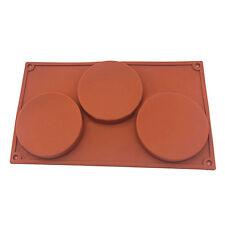3-Cavity Silicone Mould Cute Cake Pie Custard Tart Resin Coaster Baking Mold