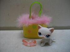 LITTLEST PET SHOP LPS CAT #64 PORTABLE PETS W/CARRIER CARRY CASE RARE COMPLETE