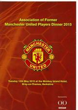 Menú de Manchester United-asociación de antiguos jugadores de Manchester United 2015
