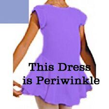Motionwear 4323 Periwinkle(524) Girl's Large Petal Sleeve Skirted Leotard Dress