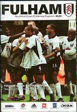 Football Programme - Fulham v Southampton - Premiership - 27/10/2001