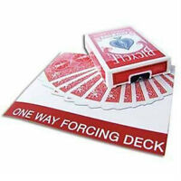 One Way Forcing Deck - Red - Bicycle Playing Cards - Magic Tricks - New