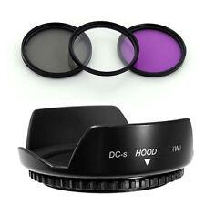 55mm Lens Hood Flower Wide Petal,Filter Kit for Fuji S5600 S5500 S5100 Camera