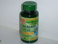 BILBERRY 375mg HEALTHY EYES IMPROVED EYESIGHT VISION FRUIT EXTRACT 100 CAPSULES